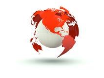 地球查出的白色 免版税图库摄影