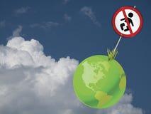 地球标志人口 免版税库存图片