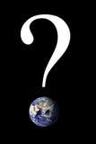 地球标记问题 库存照片