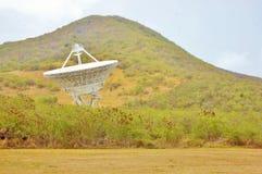 地球根据当班空间的雷达 免版税库存照片