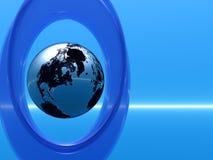 地球框架 库存图片