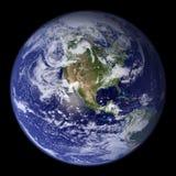 地球模型美国视图 皇族释放例证