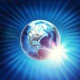 地球模型 免版税图库摄影