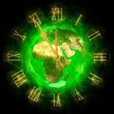地球欧洲好绿色行星时间 免版税库存照片