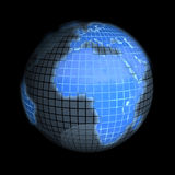 地球欧洲重点 免版税库存照片