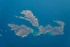 地球海岛卫星看法在地中海 图库摄影