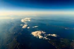 地球海岛和地中海 免版税库存图片