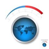 地球温度上升 免版税图库摄影