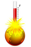 地球温度 免版税图库摄影