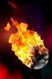地球火焰 免版税图库摄影
