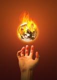 地球烧焦了 免版税库存照片