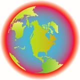 地球热不适于居住 库存照片