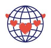 地球爱标志例证 库存照片