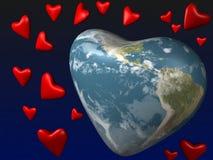 地球爱行星 库存照片