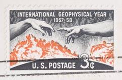 地球物理的国际印花税年 免版税库存图片