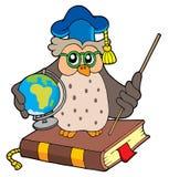 地球猫头鹰教师 库存照片
