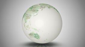 地球环境词转动 向量例证