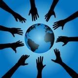 地球现有量人伸手可及的距离 向量例证