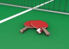 地球用浆划乒乓球 免版税库存照片
