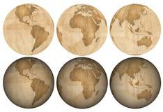 地球由包装纸制成 库存图片