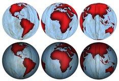 地球由被弄皱的纸张制成 图库摄影