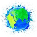 地球的传染媒介例证 库存照片