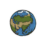 地球的传染媒介例证 免版税库存图片