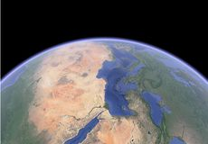 地球的卫星图象 向量例证