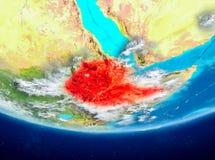 地球的埃塞俄比亚从空间 向量例证