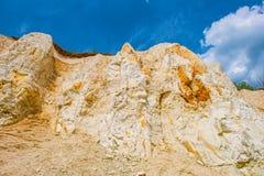 地球的层数从白垩纪 免版税库存照片