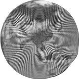 地球的扭索状装饰例证 向量例证