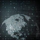 地球的技术图象 库存图片