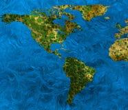 地球的抽象地图 库存图片