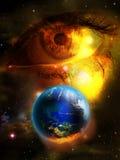 地球的泪花 向量例证