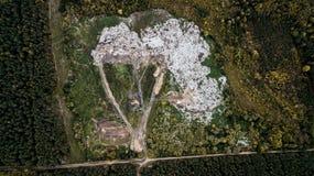地球的看法从quadrocopter的 免版税库存照片