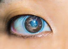 地球的眼睛 库存图片