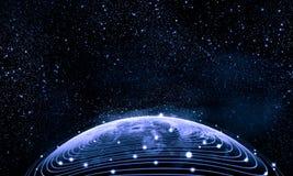 地球的蓝色图象 免版税库存照片