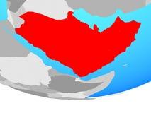 地球的阿拉伯半岛 免版税库存图片