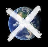 地球的崩溃 免版税库存照片