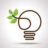 地球的绿色想法,环境概念 免版税库存图片