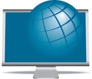 地球监控程序 库存例证