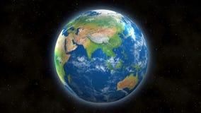 地球看法从空间的与亚洲和印度 免版税图库摄影