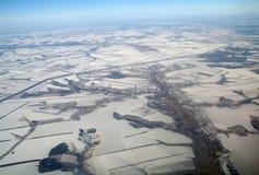 地球看法从,冬天 库存图片