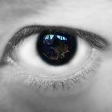 地球眼睛 库存图片