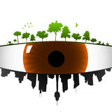 地球眼睛 向量例证