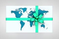 地球礼品 库存图片