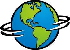 地球空转 免版税库存照片