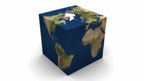地球立方体轨道 皇族释放例证