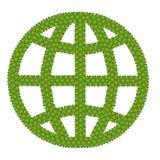 地球符号由四片叶子丁香制成 库存照片