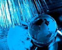 地球纤维光学 库存图片